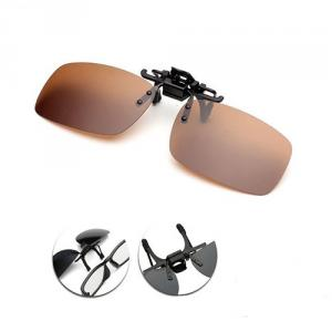 Polarized Sunglasses Clip (Brown)